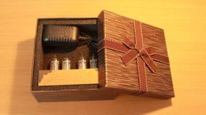 Часы ламповые в подарочной упаковке