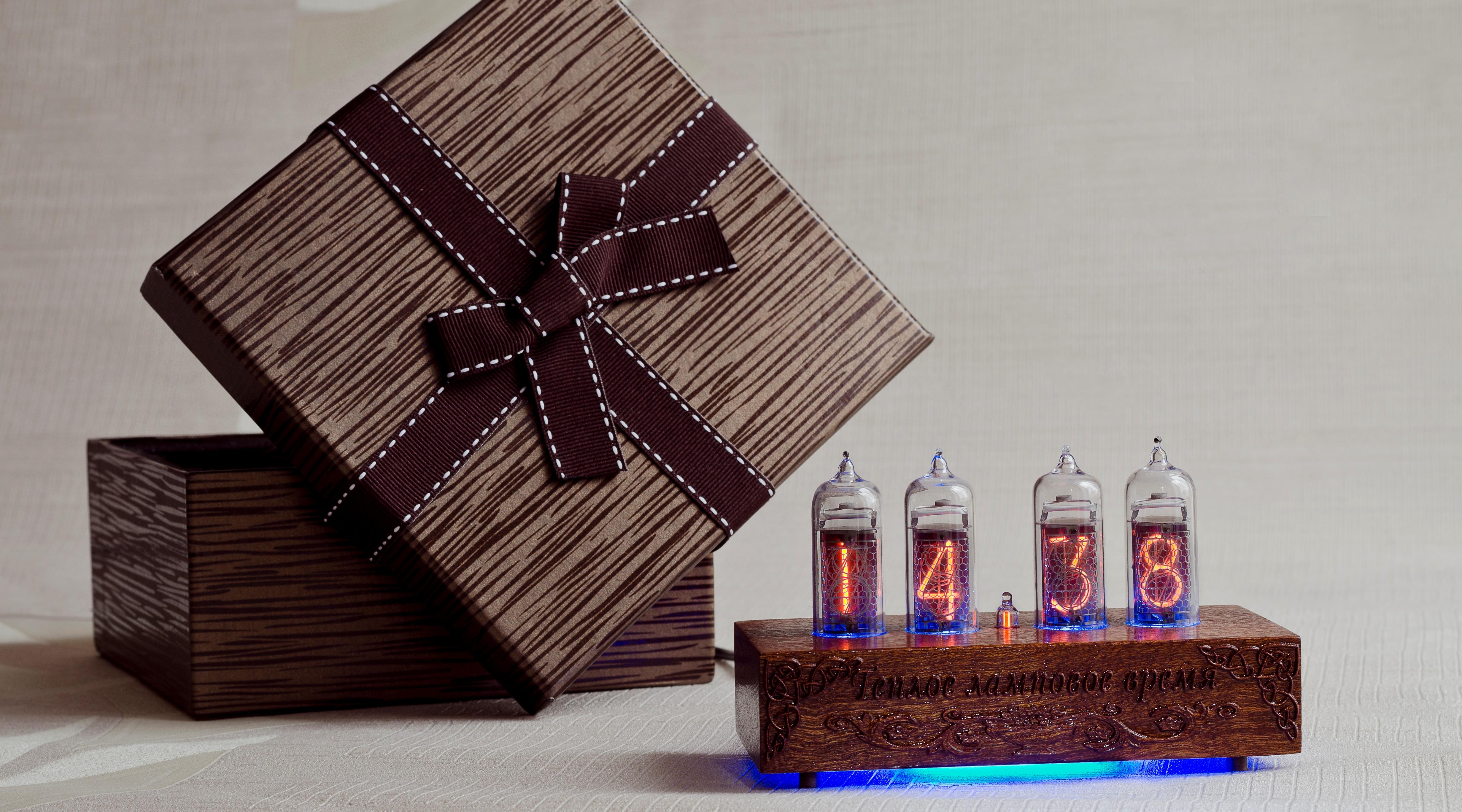 Ламповые подарочные часы
