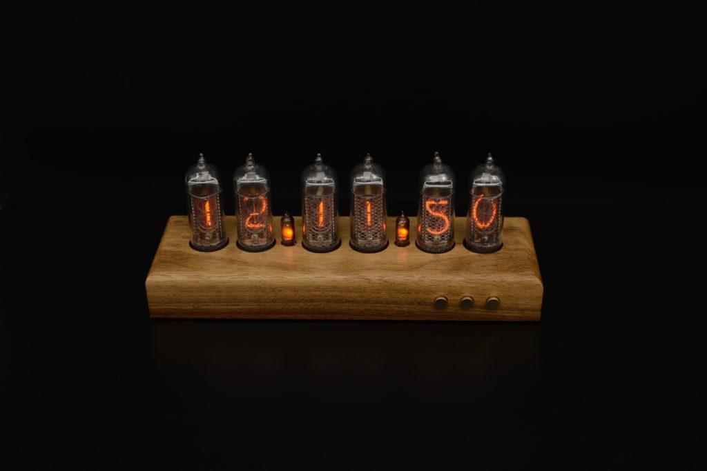 Nixie Clock Вlack walnut light 6